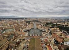 广场圣彼得罗,梵蒂冈,罗马,意大利 免版税图库摄影