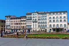 广场圣玛丽亚中篇小说在佛罗伦萨 库存照片