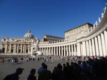 广场圣皮特圣徒・彼得` s在罗马,意大利 库存图片