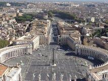 广场圣皮特圣徒・彼得` s在罗马,意大利 库存照片