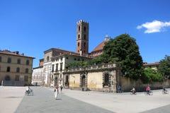 广场圣马蒂诺,托斯卡纳意大利 库存照片
