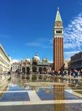 广场圣marco威尼斯意大利 免版税图库摄影