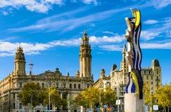 广场Antonio卢佩茨在巴塞罗那,西班牙 免版税库存照片