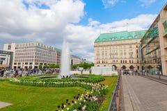 巴黎广场在柏林,德国 免版税库存照片