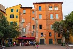 广场基亚拉Gambacorti在比萨,意大利 库存照片