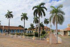 广场市长在特立尼达的中心 免版税库存图片
