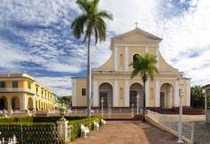 广场市长在特立尼达,古巴 免版税库存图片