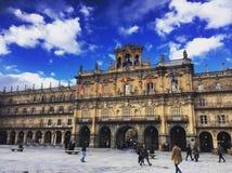 广场市长在西班牙,萨拉曼卡 免版税图库摄影