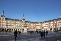 广场市长在马德里,西班牙 广场市长是一个中心广场在马德里 图库摄影