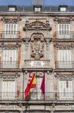 广场市长正方形在马德里,西班牙。 库存图片