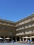 广场市长的角落在萨拉曼卡,西班牙 免版税图库摄影