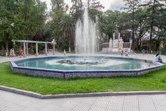 广场意大利Mendoza阿根廷 免版税库存图片