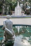 广场意大利Mendoza阿根廷 免版税库存照片