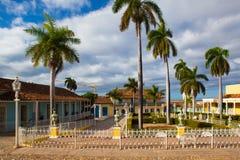 广场正方形市长-特立尼达,古巴的主要 免版税库存图片