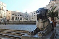 广场比勒陀利亚或广场della Vergogna,巴勒莫,西西里岛 库存图片