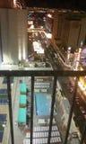 广场汽车旅馆屋顶水池 免版税库存照片