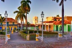 广场特立尼达,古巴市长- 免版税库存照片
