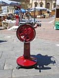 广场的看法重创在阿雷佐在意大利 免版税库存照片
