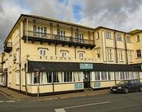 广场的贝得福得旅馆在西德茅斯,德文郡 库存照片
