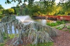 广场美国赖斯顿弗吉尼亚公园设置 免版税库存图片