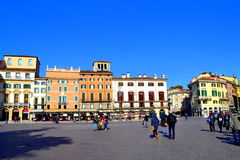 广场胸罩维罗纳,意大利 库存图片