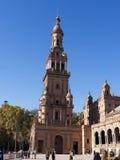 广场西班牙在塞维利亚安达卢西亚西班牙 免版税库存图片