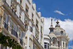 广场西班牙旅馆屋顶 库存图片