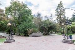 广场西班牙Mendoza阿根廷 免版税库存照片