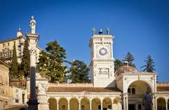 Udine城堡在夏天 免版税库存图片