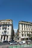 广场饭店Promenade du Paillon Nice 库存照片