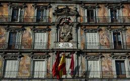 广场马德里市长。西班牙 图库摄影