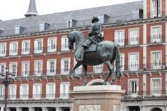 广场马德里,西班牙市长, 图库摄影