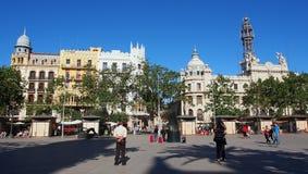 广场Ayuntamiento,巴伦西亚 库存照片