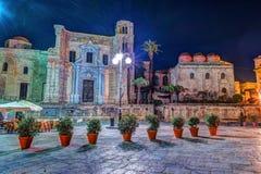 广场Bellini看法在巴勒莫,西西里岛,意大利 免版税库存图片