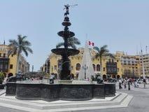 广场de利马/利马大广场市长 免版税库存图片