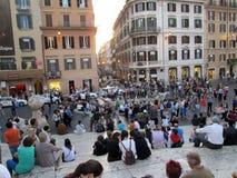广场de EspaA±aa是其中一个最响誉的正方形在罗马意大利欧洲 免版税库存照片