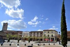广场de la villa,鸟入,西班牙 免版税库存照片