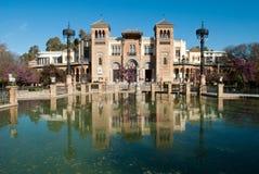 广场de las美洲在塞维利亚,西班牙 库存照片