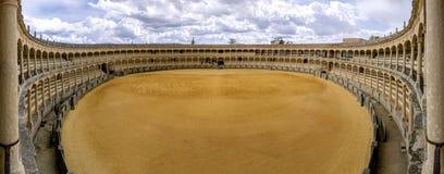 广场de toros de朗达,最旧的斗牛圆环在西班牙 免版税图库摄影