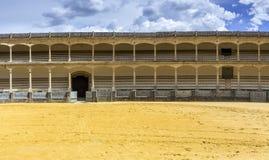 广场de toros de朗达,最旧的斗牛圆环在西班牙 免版税库存照片