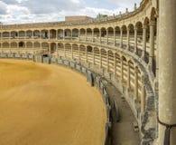 广场de toros de朗达,最旧的斗牛圆环在西班牙 库存照片
