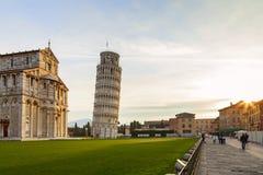 广场dei miracoli视图 免版税库存图片