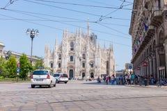 广场del米兰中央寺院 库存图片