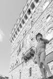 广场della的Signoria米开朗基罗的大卫 免版税图库摄影
