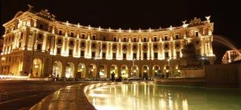 广场della Repiubblica罗马 库存图片