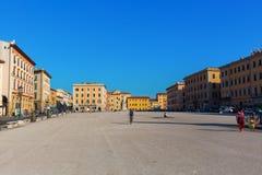 广场della Repubblica在里窝那,意大利 免版税库存图片