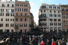 广场di spagna,罗马 免版税图库摄影