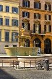 广场Farnese在罗马,意大利 库存照片