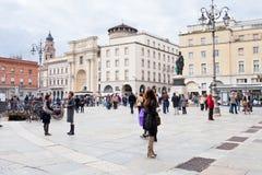 广场Garibaldi在帕尔马,意大利 图库摄影