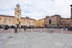广场Garibaldi视图在帕尔马,意大利 库存照片